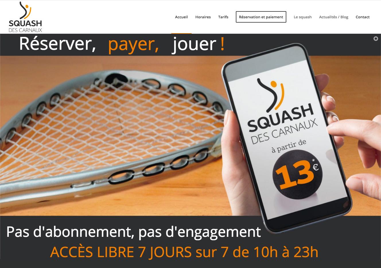 SQUASH DES CARNAUX, Réserver en ligne, payer, jouer !